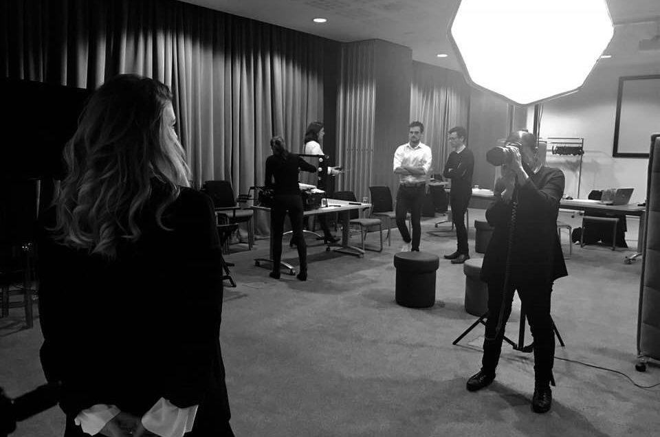 Shooting chez L'Oréal