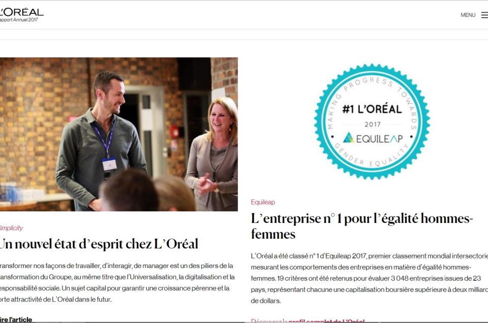 Rapport annuel L'Oréal 2017