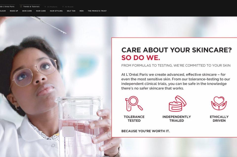 Campagne L'Oréal R&D Mars 2019